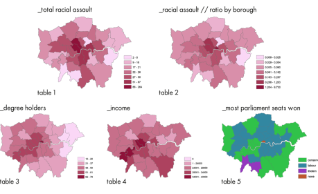Racial Assaults per London Borough