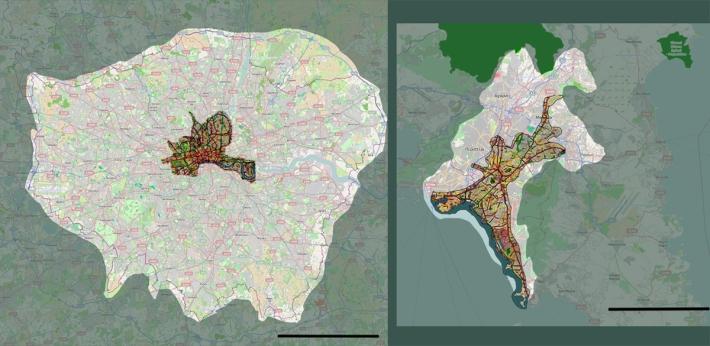 Territories compared