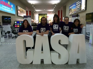 The CASA exhibition at Grand Designs Live - The CASA team of Monay 5th May